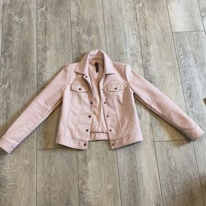 Pink (faux) leather jacket size SMALL